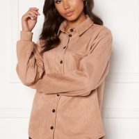 Pieces Rubie LS Shacket Warm Taupe L