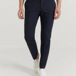 Pour Dressbukse Danny Suit Trousers Blå