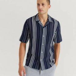 Samsøe Samsøe Kortermet skjorte Oscar AC Shirt 11528 Blå