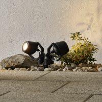 Spisslampe Minitommy 2 lyskilde CCT, svart/frost
