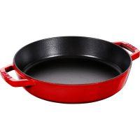 Staub Pans Series Sautépanne med To Håndtak Rød 26 cm