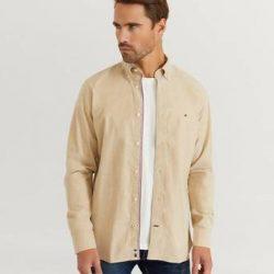 Tommy Hilfiger Skjorte Flex Refined Oxford Shirt Gul
