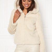VERO MODA Thea Hoody Short Faux Fur Birch XL