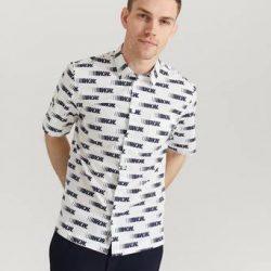 Wood Wood Kortermet Skjorte Thor Shirt Hvit