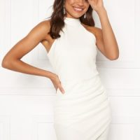 AX Paris High Neck Rouched Dress White S (UK10)