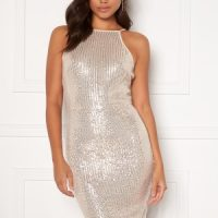 AX Paris Sequin Mini Dress Champagne L (UK14)