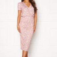 BUBBLEROOM Becky wrap dress Pink / Floral XL