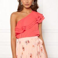 BUBBLEROOM Carolina Gynning Flounce blouse Peach 42