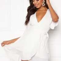 BUBBLEROOM Edie wrap dress White 44