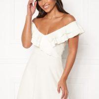 BUBBLEROOM Sanna flounce dress White S