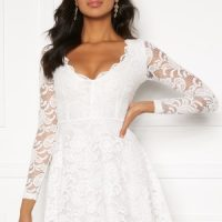 BUBBLEROOM Shione lace dress White L
