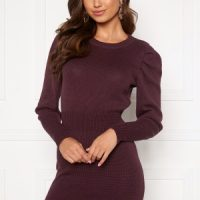BUBBLEROOM Tua knitted dress Wine-red S