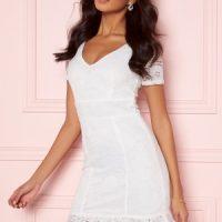 BUBBLEROOM Vilia lace dress White 40
