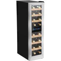 Cavin Northern Collection Frittstående vinkjøleskap rustfritt stål, 16 flasker