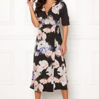 Happy Holly Adaline occasion dress Black / Patterned 32/34
