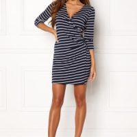 Happy Holly Alena dress Navy / Striped 36/38L