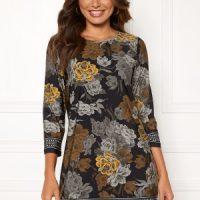 Happy Holly Blenda dress Black / Floral 32/34L