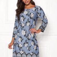 Happy Holly Blenda dress Medium blue / Patterned 32/34L