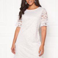 Happy Holly Julianne flounce lace dress White 52/54