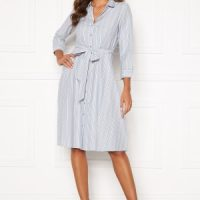 Happy Holly Sanna shirt dress Blue / Striped 44/46