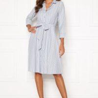 Happy Holly Sanna shirt dress Blue / Striped 48/50