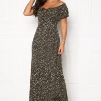 Happy Holly Tessie maxi dress Black / Patterned 48/50L