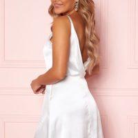 Moments New York Laylani Satin Dress White 34