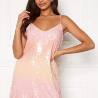 ONLY Joy S/L Sequins Dress Seedpearl XS