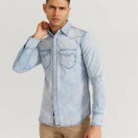 Replay Jeansskjorte Blå