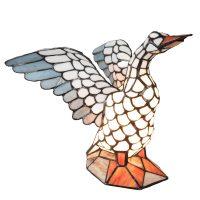5928 bordlampe i form av en gås, Tiffany-stil