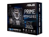 ASUS Prime H310I-PLUS R2.0 - Hovedkort - mini-ITX - LGA1151 Socket - H310 - USB 3.1 Gen 1 - Gigabit LAN - innbygd grafikk (CPU kreves) - HD-lyd (8-kanalers)