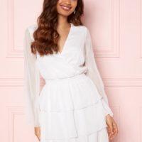 BUBBLEROOM Alina Frill Dress White 40