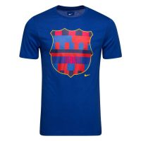 Barcelona T-Skjorte Logo - Navy