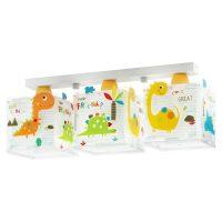Barne-taklampe Dinos, 3 lyskilder