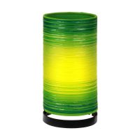 Bordlampe Julie viklet inn med tråder, grønn