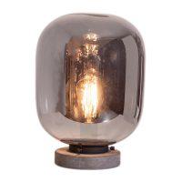 By Rydéns Leola glass-bordlampe i røykgrå