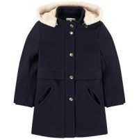 Chloé Wool and polyamide broadcloth coat 10 år