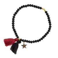 Crystal Bead Bracelet 4 MM W/ox RED