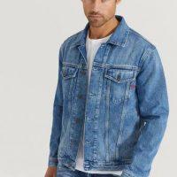 Diesel Jeansjakke D-Sal Jacket Blå