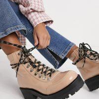 Gestuz Pando hiker style boots-Beige