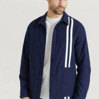 JUNK de LUXE Overshirt Contrast Stripe Outershirt Blå