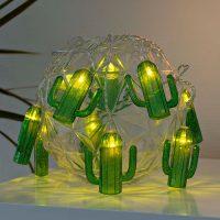 Kaktus LED-lyslenke, batteridrevet