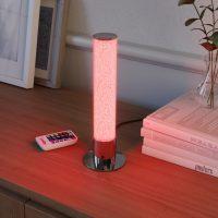 LED-bordlampe Fria, sylinder, RGB, fjernkontroll