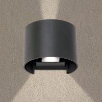 LED-vegglampe Scotty med variabel strålevinkel