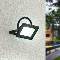 Lindby Aine LED-utespot svart 7,4 cm