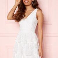 Moments New York Lemonie Lace Dress White 42