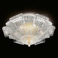 Muranoglass-taklampe Tartaruga, 80 cm
