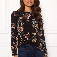 ONLY New Mallory L/S Blouse Black Flower 34