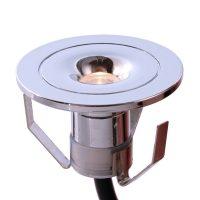Punto Limi liten, forkrommet LED-innbyggingslampe