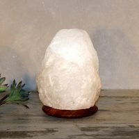 Saltkrystallampe Rock White Line, 2–3 kg